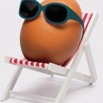 ETOS holiday cover egg in chair